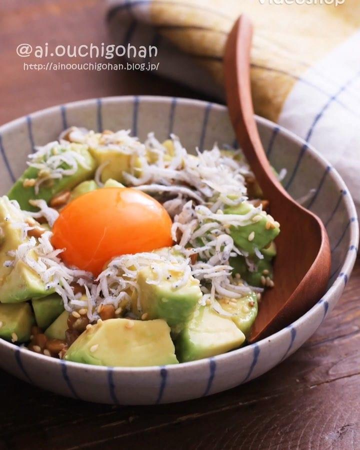 和風ナムルでアボカドと納豆の簡単ユッケ風