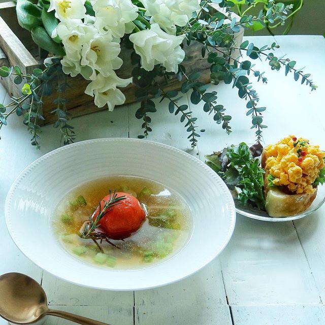 フルーツトマトの丸ごとスープ