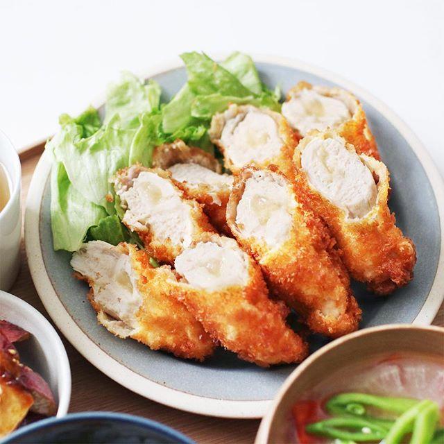 鶏ササミのチーズ揚げ