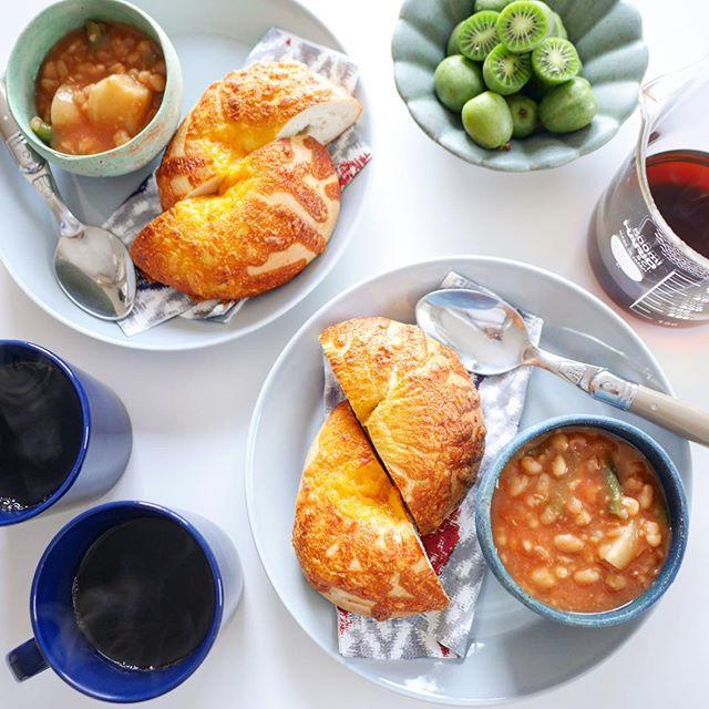 白いんげん豆とカブのスープ