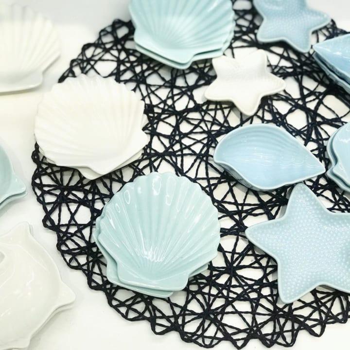 ダイソーの貝殻モチーフ小皿