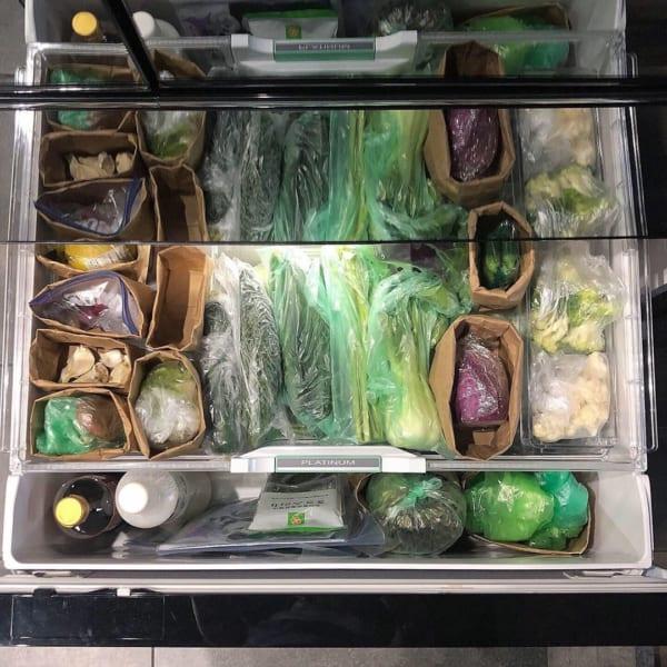 野菜室では袋が便利なことも