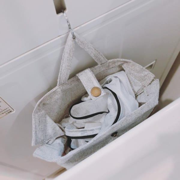レジ袋ストッカーで洗濯ネット収納【ダイソー】