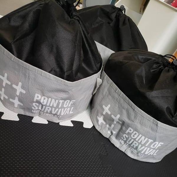 セリアのプラスチック用食器バッグにレゴを収納3
