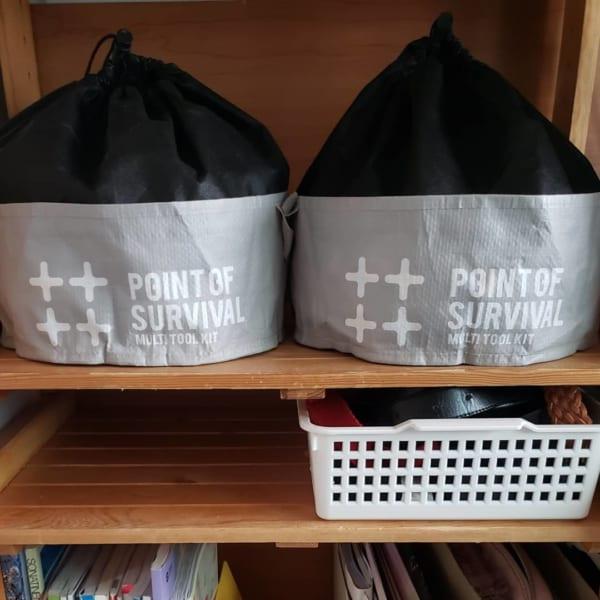 セリアのプラスチック用食器バッグにレゴを収納2