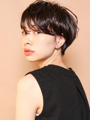 ハンサムショート×黒髪14