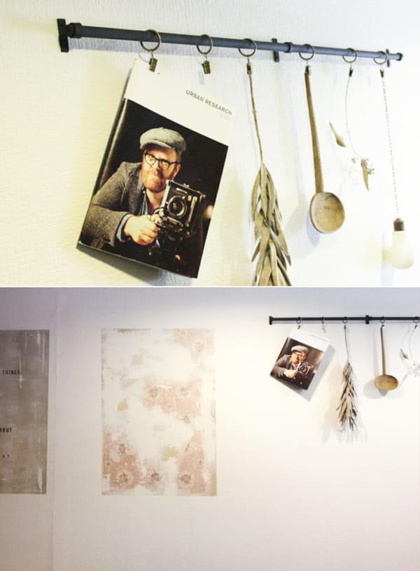 ポスター風アートを壁にペイント