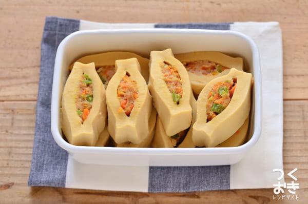 カロリー控えめ!高野豆腐の肉詰め煮