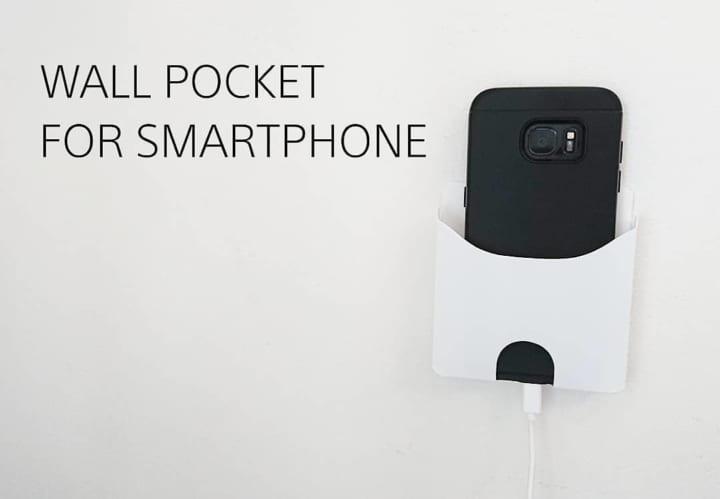 スマートフォン用ウォールポケット