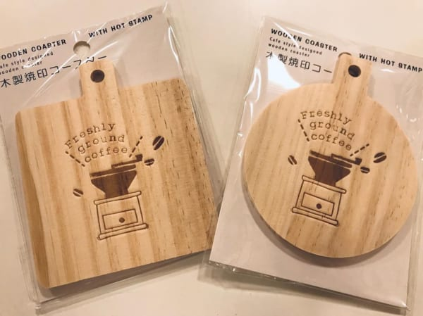 木製焼き印コースター