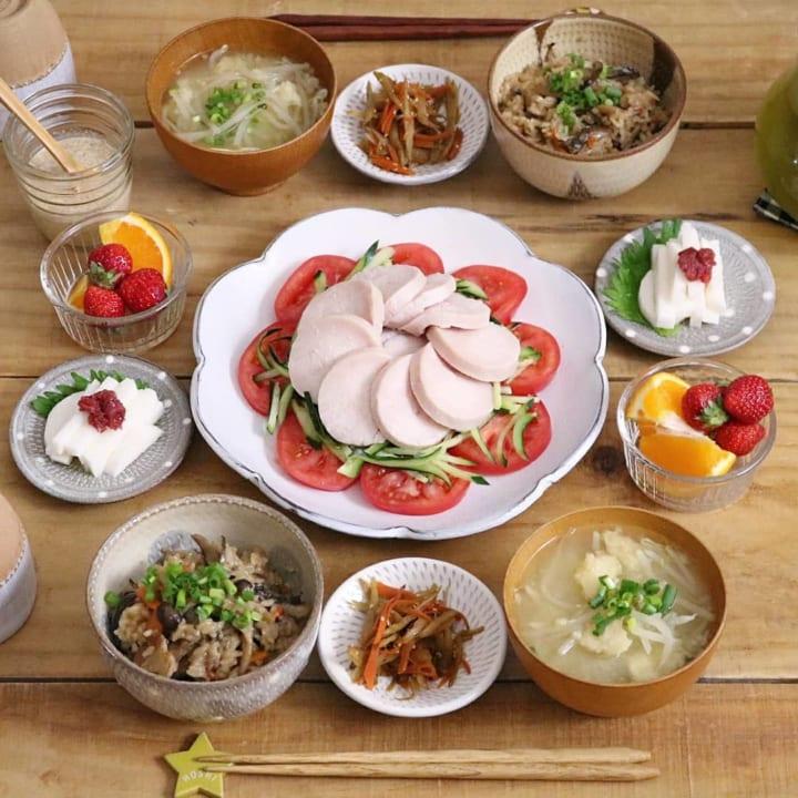 鶏ハムの中華風サラダ