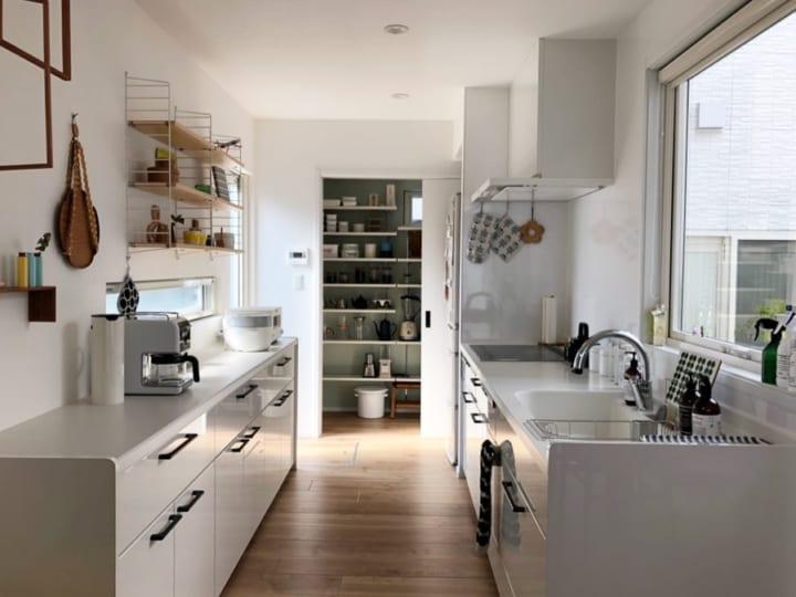 4北欧テイストのキッチンインテリア実例