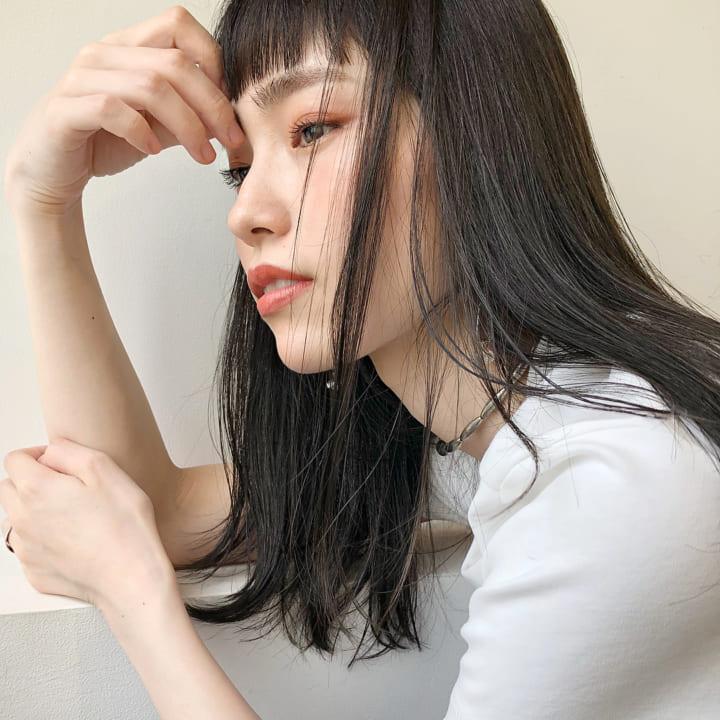 オン眉ぱっつん×黒髪ロング