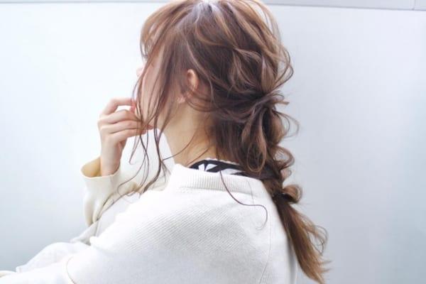 セミロング ヘアアレンジ 前髪あり7