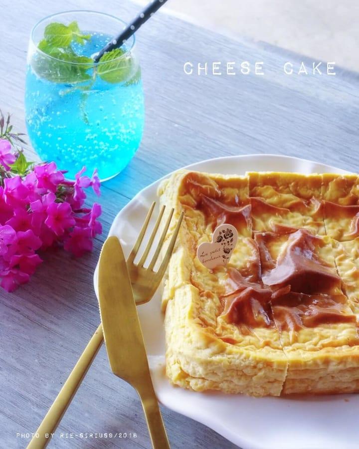 大豆粉でタンパク質アップ!ベイクドチーズケーキ