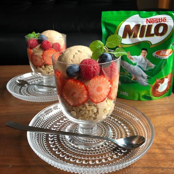 ミロで作るチョコレートアイスのレシピ