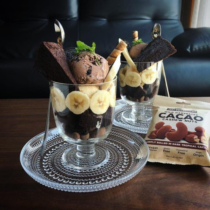 チョコレートアイスのパフェ