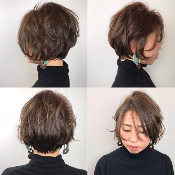 小顔に見えるショートの髪型5