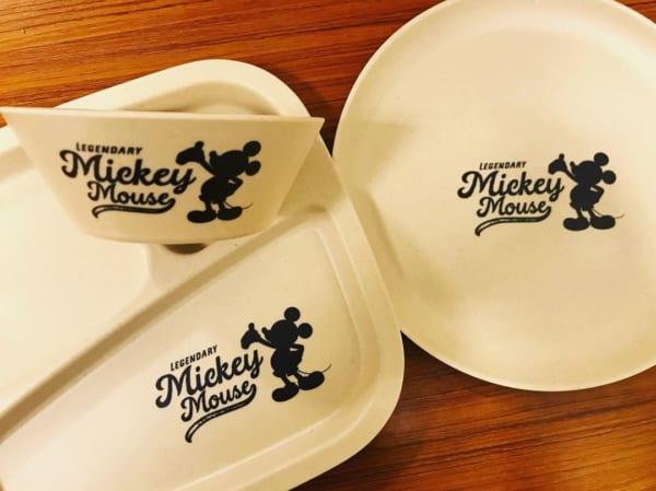 ミッキーのバンブー食器(セリア)