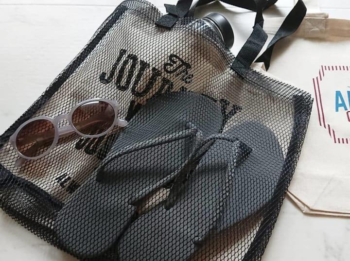自分オリジナルの可愛いメッシュバッグにも変身できちゃう♪