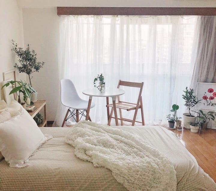 寝室 カフェ風インテリア