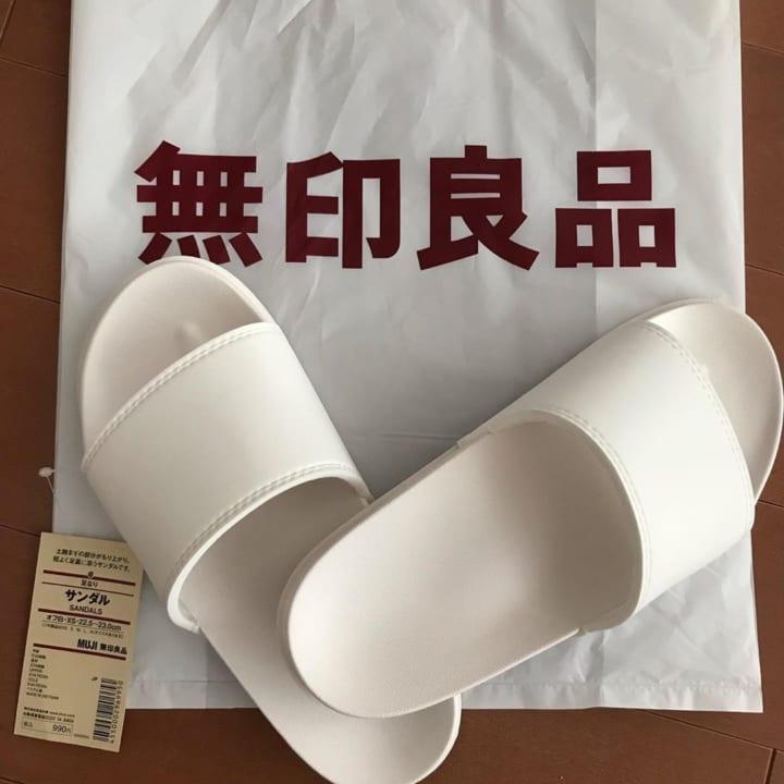 【無印良品】真っ白なサンダル