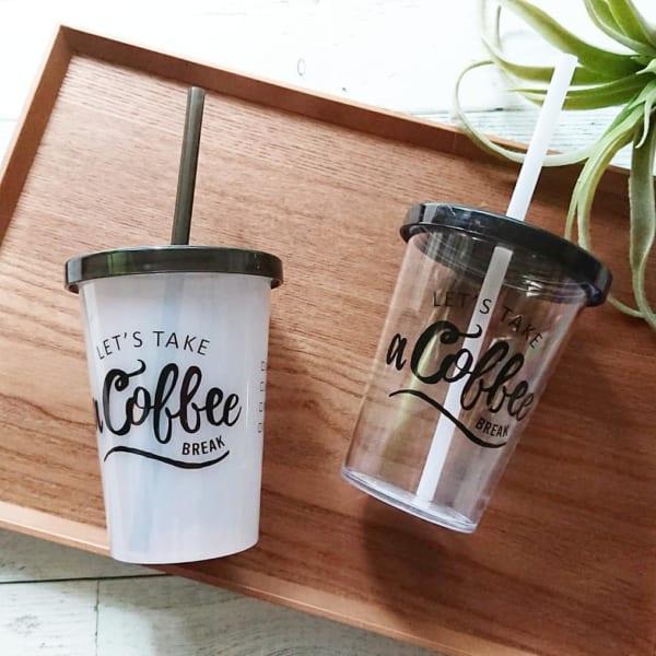 カフェ気分で楽しみたいドリンクカップ【キャンドゥ】