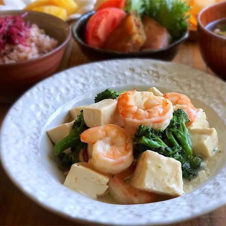 海老と豆腐の中華餡