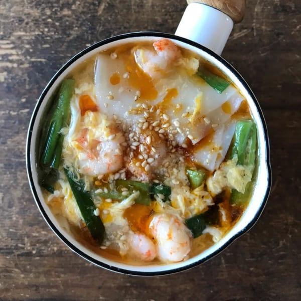 餃子の皮スープ
