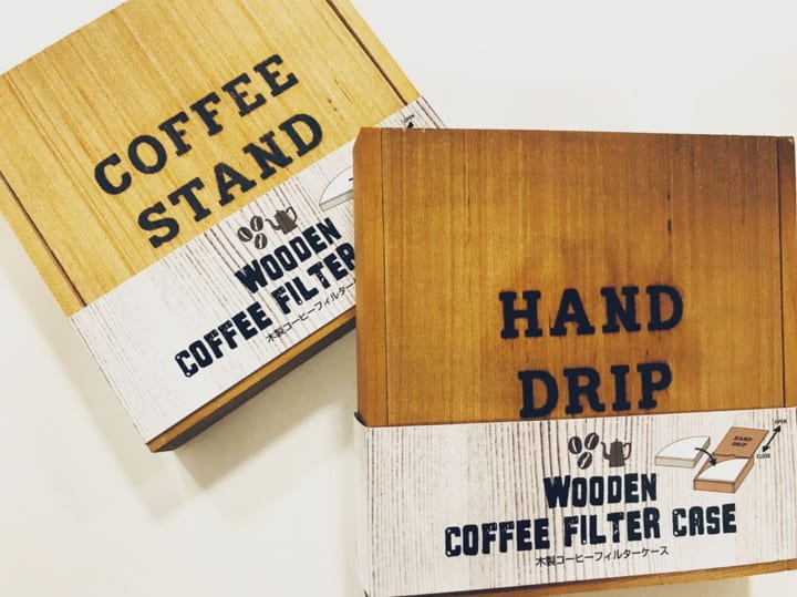 木製コーヒーフィルターケース
