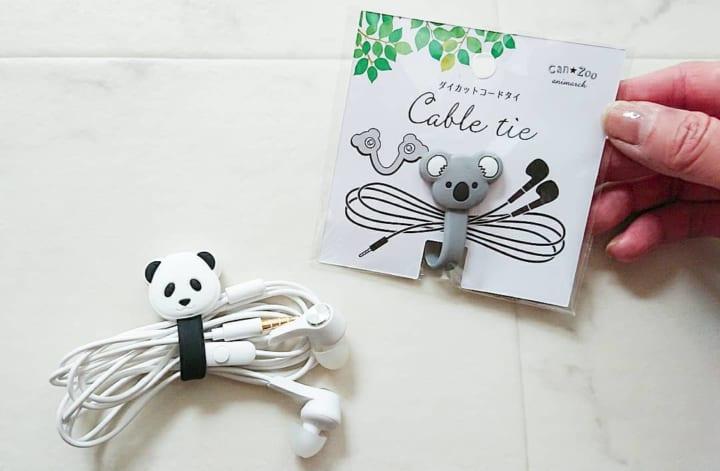 パンダとコアラがちょこん♡コードタイ