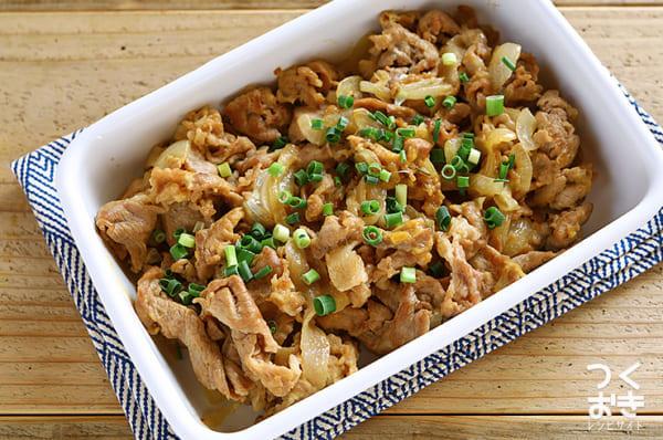 豚肉とたまねぎの味噌マヨ炒め