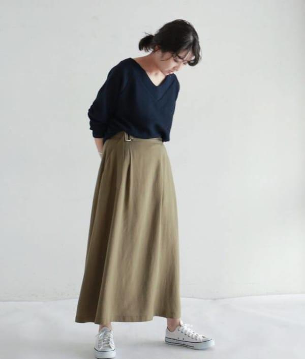 NOMBRE IMPAIR - テンセルリネンポプリン ロングスカート