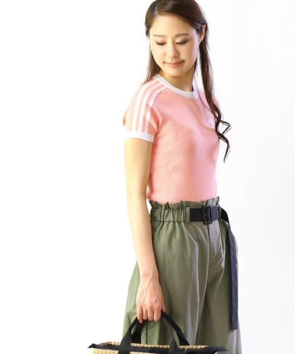 adidas -リブニットTシャツ