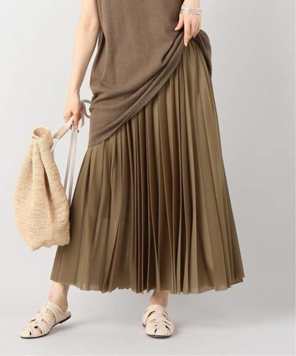 plage -シースループリーツスカート