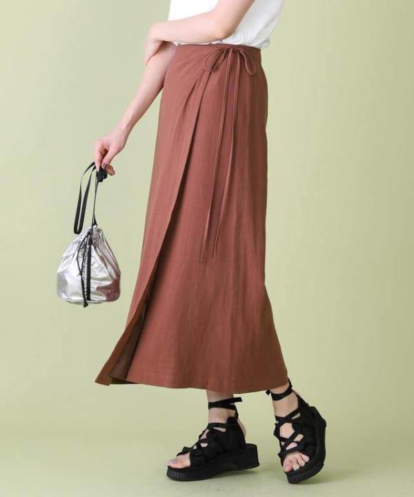 FREAK'S STORE - リネンレーヨンラップスカート