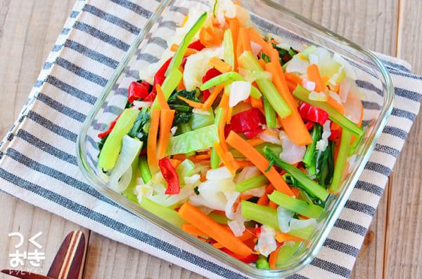 たっぷり栄養が摂れる!彩り温野菜サラダ