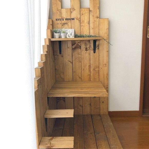 キャットウォーク DIY 木材