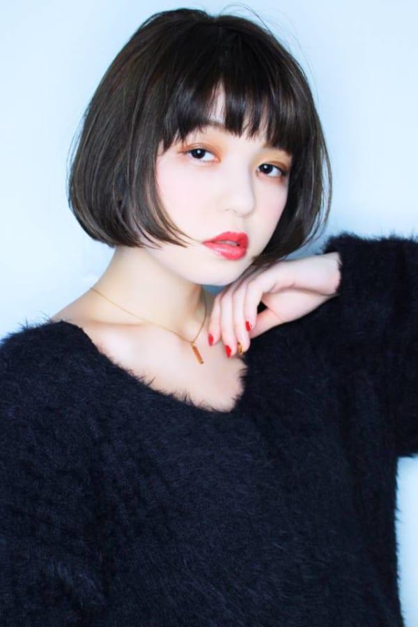 シンプルボブ×黒髪