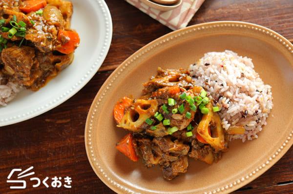 サバ缶と根菜のカレー炒め