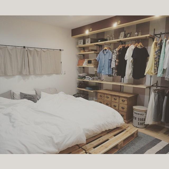 狭い部屋のレイアウト《寝室》