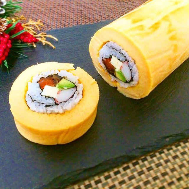 卵焼きの太巻き寿司