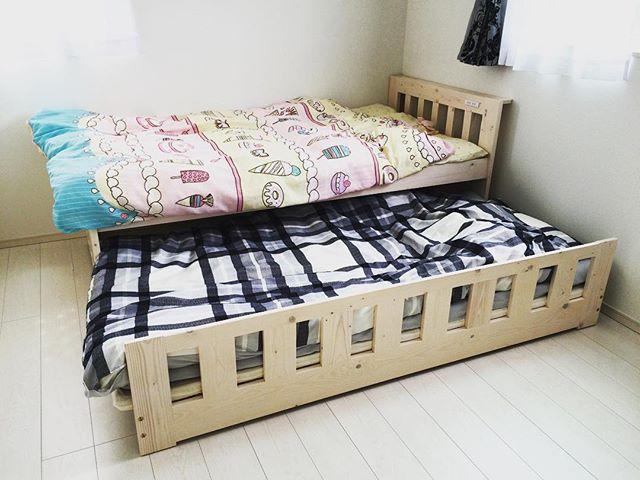 親子ベッドは省スペースのベッド下収納