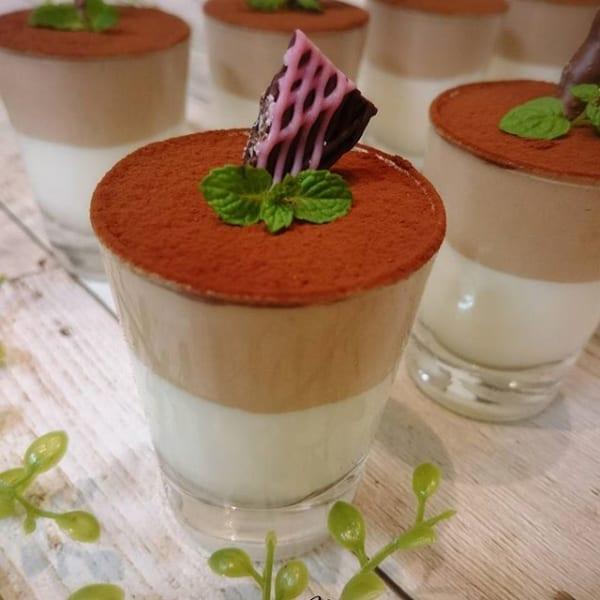 ㉔人気デザートレシピ:レアチーズとチョコのムース