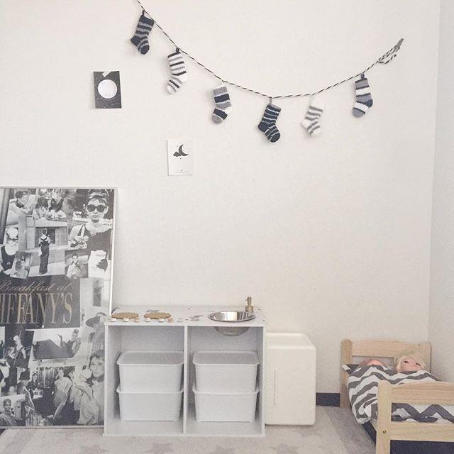 子供部屋のおしゃれなホワイトインテリア6