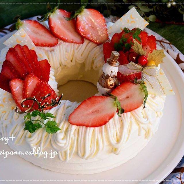 いちごのホワイトリースケーキ