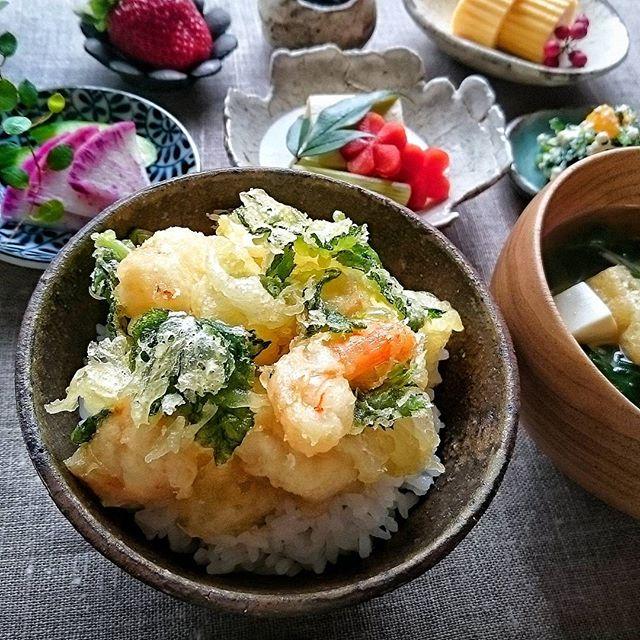 簡単料理:海老のかき揚げ丼