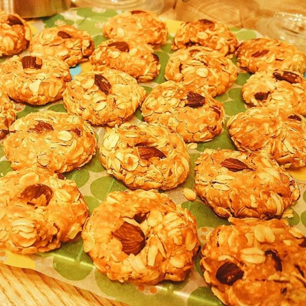 オートミールとアーモンドのクッキー