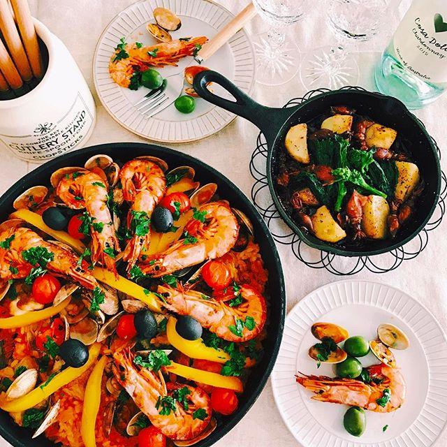 ディナー人気主食レシピ:パエリア