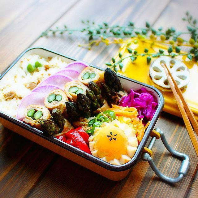 絶品メイン料理に!紫アスパラの人気肉巻き弁当